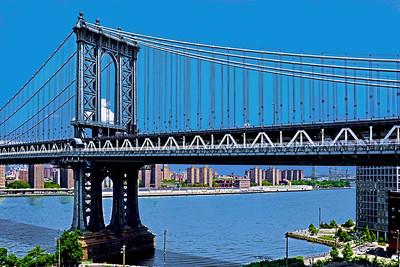 Manhattan Bridge on a Summer Day