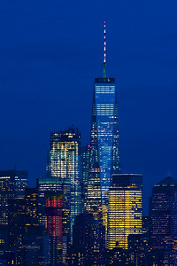 NYC One World Trade Night Lights