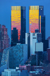 NYC-Time Warner Towers at Sundown