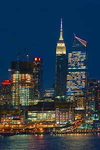 NYC-Empire State Building Night Lights