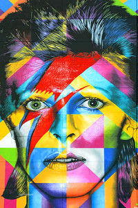 David Bowie Wall Mural