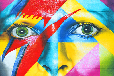 David Bowie Mural Eyes Segment