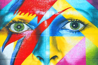 David Bowie Mural Eyes Segment