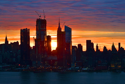 NYC Sunrise in Blue and Orange