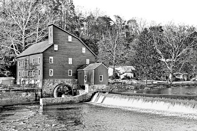 Clinton Mill in Black and White