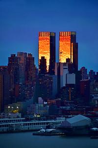 NYC Sundown Gold and Twilight Blues