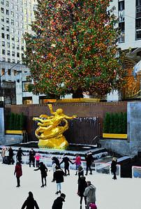 Rockefeller Center Tree and Skaters