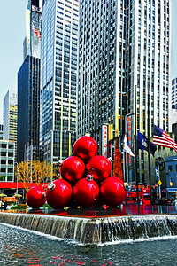 Red Ball Holiday Cheer NYC