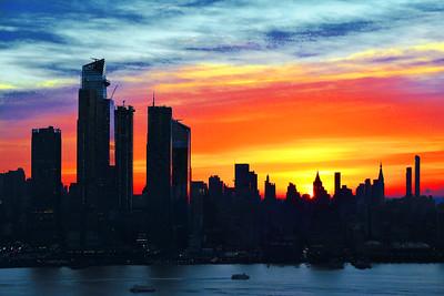 NYC Rainbow Hued Sunrise Sky