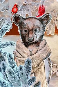 Holiday Window Bear
