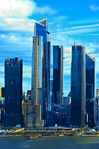 Hudson Yards Afternoon Blues NYC