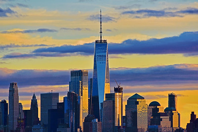 One World Trade Sundown Striped Skies