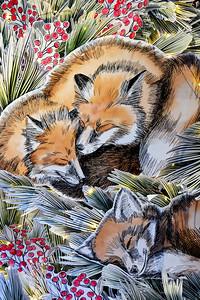 Fox Family Art NYC Holidays