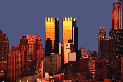 Time Warner Towers Sundown NYC