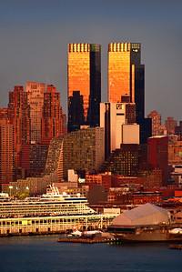 NY West Side Riverfront Sundown