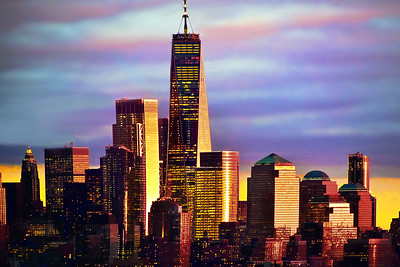 Sunset Glow on Lower Manhattan