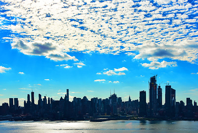 Morninng Clouds and Blue Sky NYC
