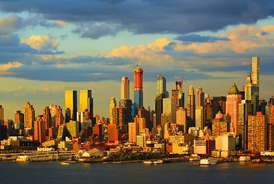Golden Sundown Cityscape NYC