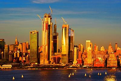NYC Sundown Sailing on the Hudson