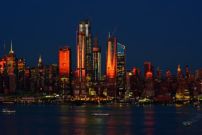 NYC Twilight Blue and Sundown Braonzed