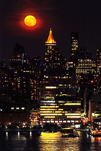 Full Moon City Scene NYC