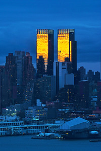 NYC Sundown Blue and Gold
