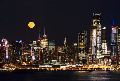 March Blue Moon over NYC