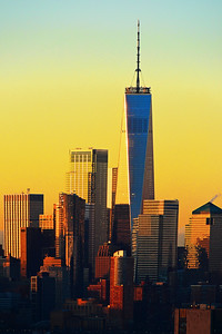 One World Trade Cunrise gold