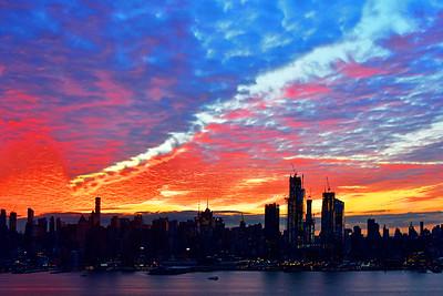 NYC Skyline Sky Drama