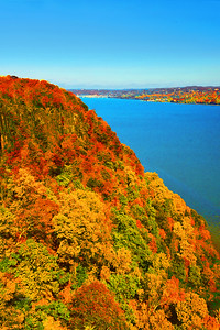 NJ Palisades Autumn at State Line