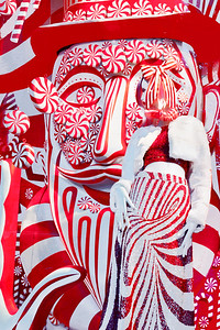 Candy Cane HOliday Window NYC