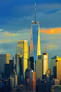 World Trade Center Sunset Beauty