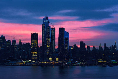 Sunrise in Pink and Blue NYC