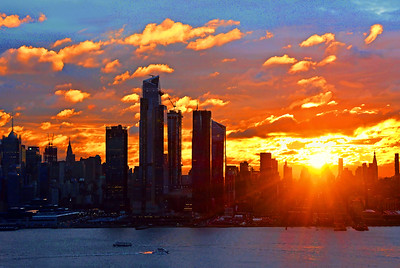 NYC Sunrise over the Horizon