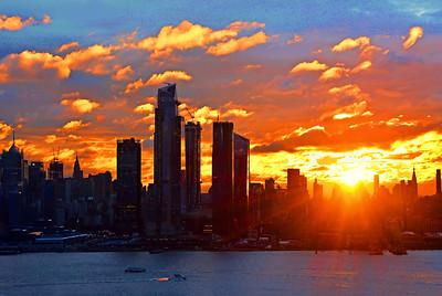 NYC Sunrise over the Horizon