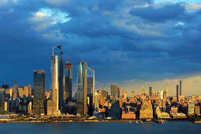 NYC Skyline Pastel Hued Sundown