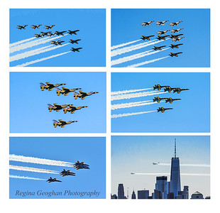 Thunderbird-Blue Angels Flyover NYC