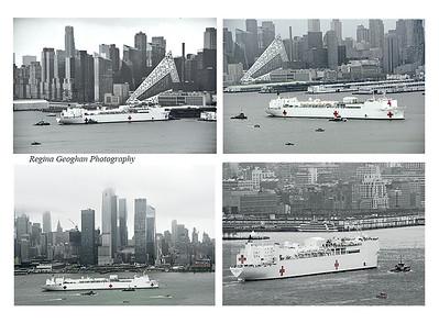 USS Comfort Departs NYC
