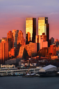 NYC Sundown Layers of Light and Color