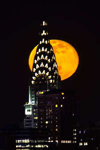 NYC Chrysler Building and April Moon 1