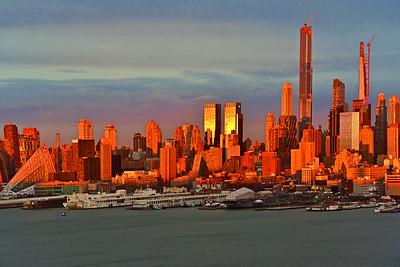 NY and Hudson River Sundown
