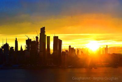 NYC Hazy Morning Sunrise