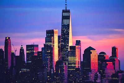 Sundown Colors - Lower Manhattan NYC