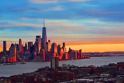 Decade's First Sundown NJ-NY