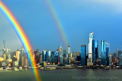 NYC  Winter Double Rainbows