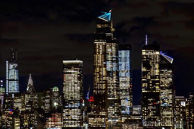 Night LIghts Hudson Yards NYC