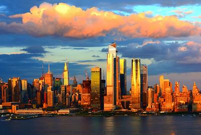 Post-storm Sundown NYYC Skyline