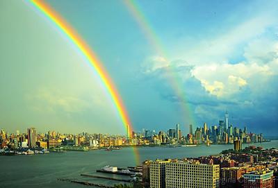 NY-NJ Hudson River Double Rainbow