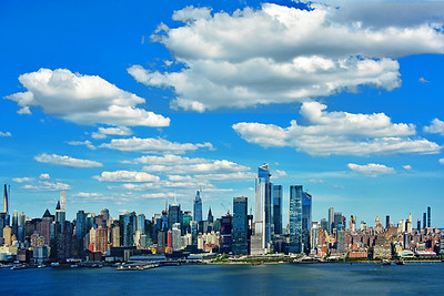 Clouds Rule over New York Skyline