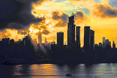 NYC Sunrise Storm Cloud Drama